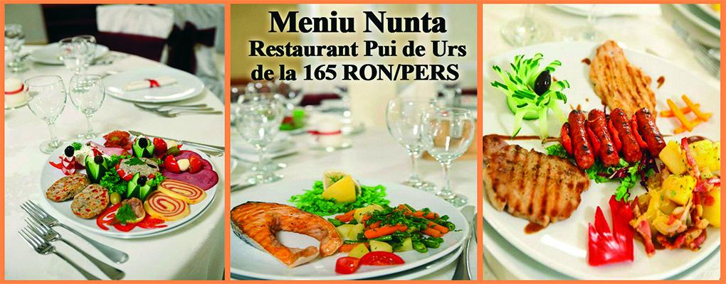 Meniu Nunta Restaurant Pui de Urs